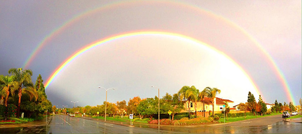 ABC7 viewer Kamal Nahas sent in this photo of a double rainbow over Camarillo via email on Saturday, March 1, 2014. When You Witness breaking news, or even something extraordinary, send pictures and video to video@abc7.com, or post them to the ABC7 Facebook page or to @abc7 on Twitter  <span class=meta>(Kamal Nahas)</span>