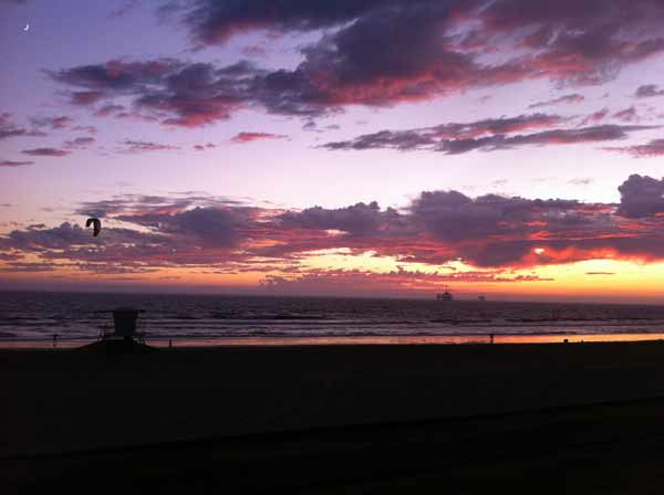 ABC7 viewer Neil Harris sent in this photo of clouds at Huntington Beach, Calif. on Friday Sept. 30, 2011.