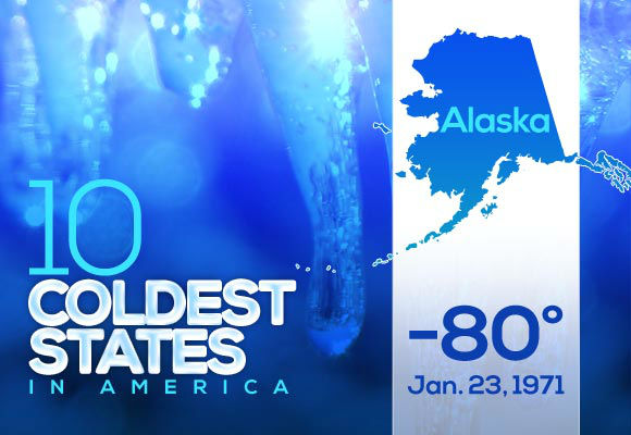 "1. Alaska  Not surprisingly, the country's northernmost state takes the cold temperature crown. With numbers from just this year lower than half the country's all-time lows, Alaskans have every right to say, ""You don't know what cold is, son.""   This year's low*: -41  *Data collected Dec. 30-Jan. 19 by the National Weather Service, including only weather stations that have already reported these weeks. All temperatures are in Fahrenheit."