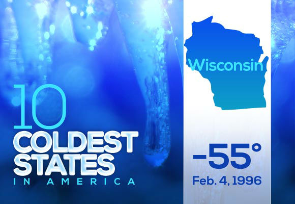 9. Wisconsin  Many Wisconsin residents have put up with record-breaking lows, boasting the most recent date (by two days) on the top ten list. Oklahoma, Maine and Illinois are the only states with more recent records. Don't count Millennials in these states out of the cold weather horror story club.  This year's low: -24