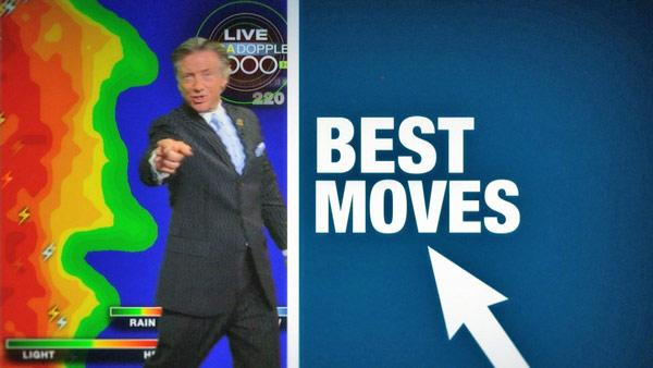 'The Crouch.' 'The Whirl.' Check out some of ABC7 meteorologist Dallas Raines' best moves. Which is your favorite?