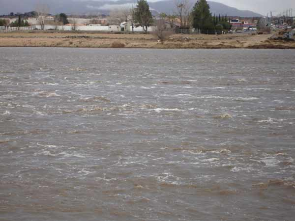 ABC7 viewer Sue Knuth sent in this photo of the Mojave River on Tuesday, Dec. 21, 2010.  When You Witness breaking news, or even something extraordinary, send pictures and video to video@myabc7.com, or send them to @abc7 on Twitter <span class=meta>(ABC7 viewer Sue Knuth)</span>