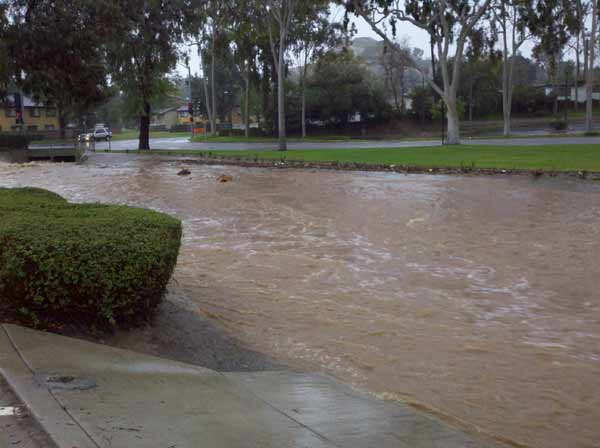 ABC7 viewer Tim Grbavac sent in this photo of flooding in Tequesquite Arroyo on Wednesday, Dec. 22, 2010.  When You Witness breaking news, or even something extraordinary, send pictures and video to video@myabc7.com, or send them to @abc7 on Twitter <span class=meta>(ABC7 viewer Tim Grbavac)</span>