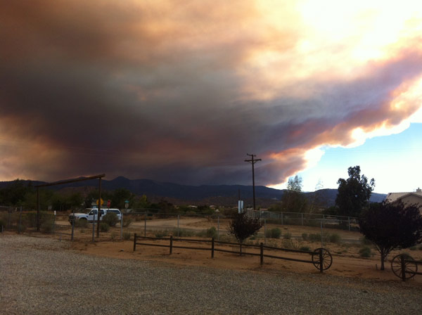 ABC7 viewer Kim sent this photo of smoke from a wildf