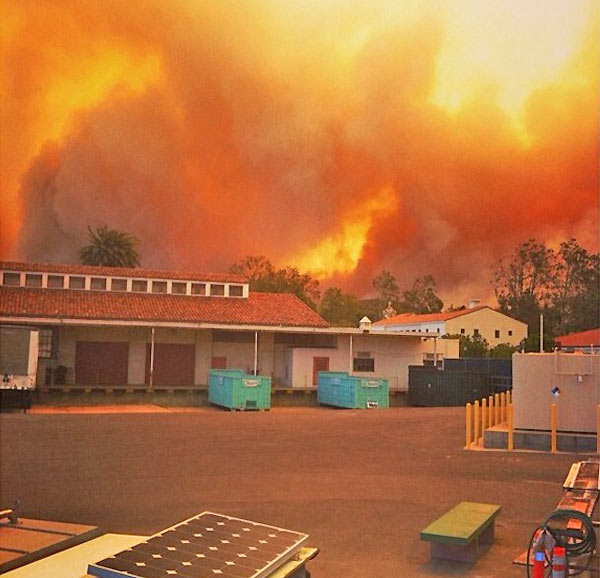 ABC7 viewer Dianna sent in this photo of a wildfire burning near the CSU Channel Islands campus on Thursday, May 2, 2013.  When You Witness breaking news, or even something extraordinary, send pictures and video to video@myabc7.com, or send them to @abc7 on Twitter <span class=meta>(KABC-TV &#47; Dianna)</span>