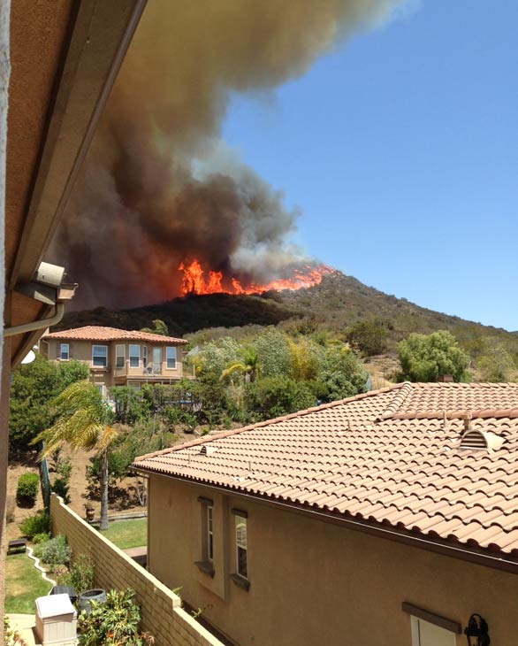 An ABC7 viewer sent in this photo of a wildfire burning in the Camarillo area on Thursday, May 2, 2013.  When You Witness breaking news, or even something extraordinary, send pictures and video to video@myabc7.com, or send them to @abc7 on Twitter <span class=meta>(KABC-TV)</span>
