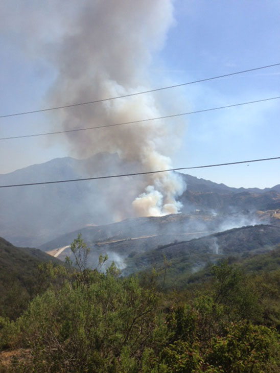 The Springs Fire can be seen from Deer Creek near Malibu on Friday, May 3, 2013.