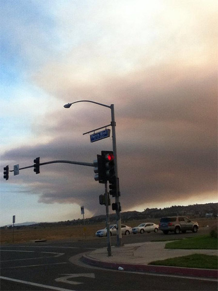 ABC7 viewer Erika Lopez posted this photo on our Facebook page of the Falls Fire in Riverside County, as seen from Perris Boulevard in Perris, Calif. When You Witness breaking news, or even something extraordinary, send pictures and video to video@abc7.com, or post them to the ABC7 Facebook page or to @abc7 on Twitter  <span class=meta>(ABC7 viewer Erika Lopez)</span>