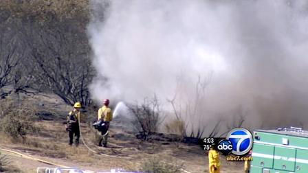Full containment on the brush fire burning in the Cajon Pass is expected by Monday, fire officials said.