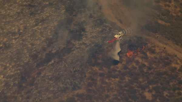 A fast-moving fire scorched more than 600 acre
