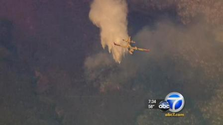 Firefighters are making headway in the Antelope Valley, where a fire broke out near Mint Canyon on Saturday, Sept. 17, 2011.