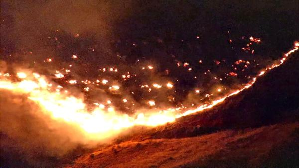 Brush fire breaks out in Palmdale hills