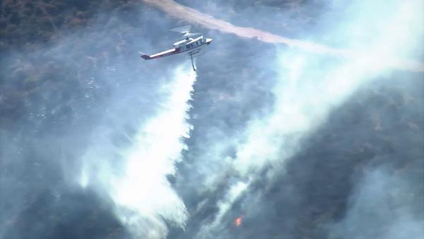 Waterman Canyon wildfire burns 75 acres