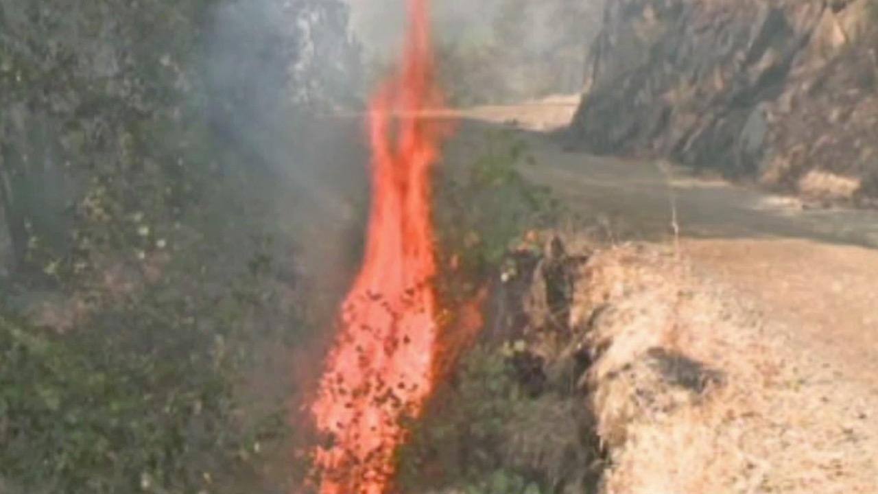 Part of the Robbers Fire, which is burning outside Sacramento, is shown in this July 2012 photo.