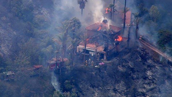 House destroyed by Murrieta fire