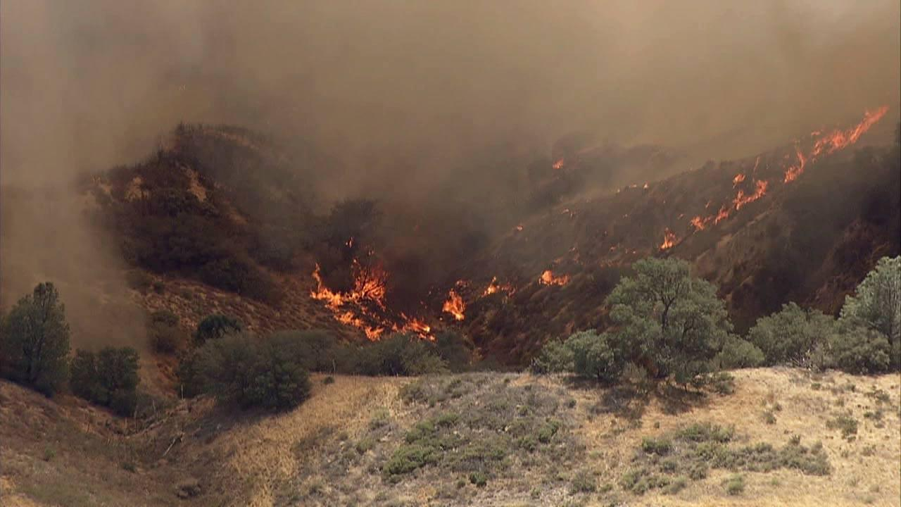 A brush fire near Gorman in the Angeles National Forest burned more than 200 acres Saturday.