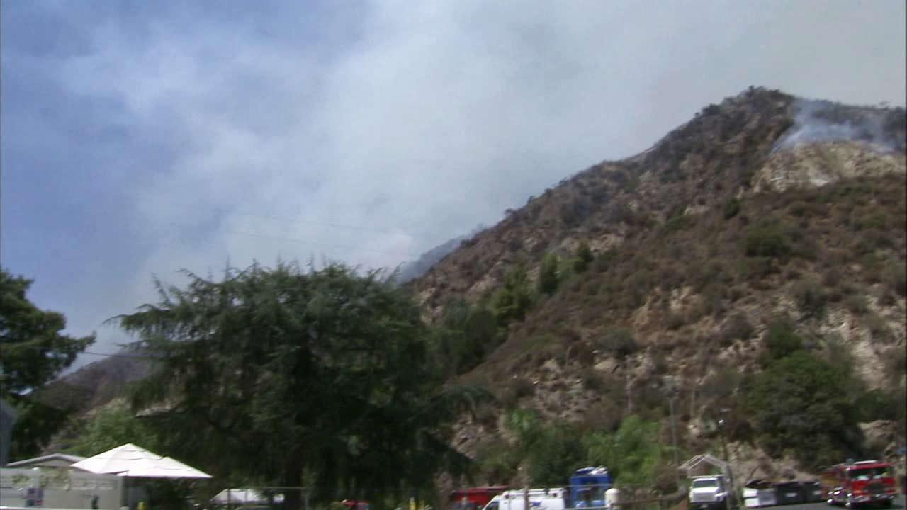 The Williams Fire burns on Wednesday, Sept. 5, 2012, near the Camp Williams Mobile Home Park.