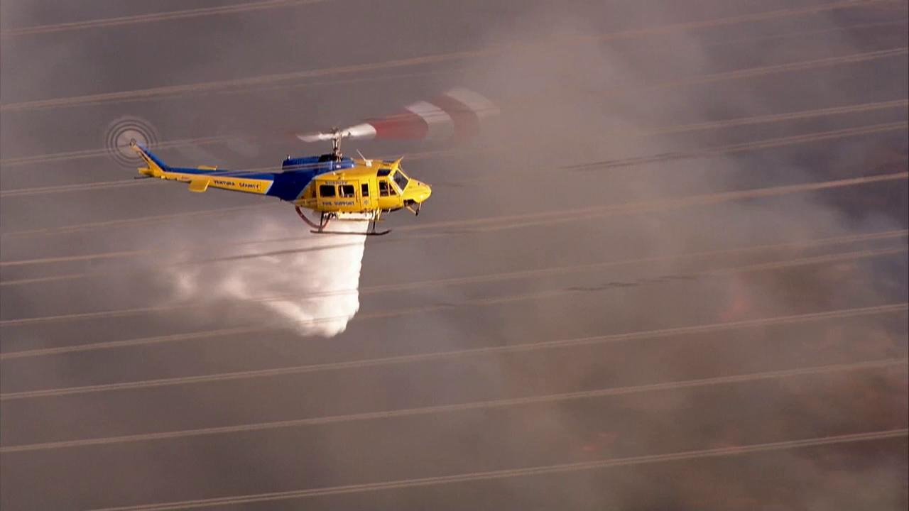 A brush fire broke out near the 101 Freeway in Camarillo Thursday, May 2, 2013.