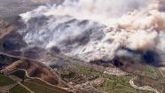 A fast-moving brush fire in Camarillo forced residents to evacuate on Thursday, May 2, 2013.