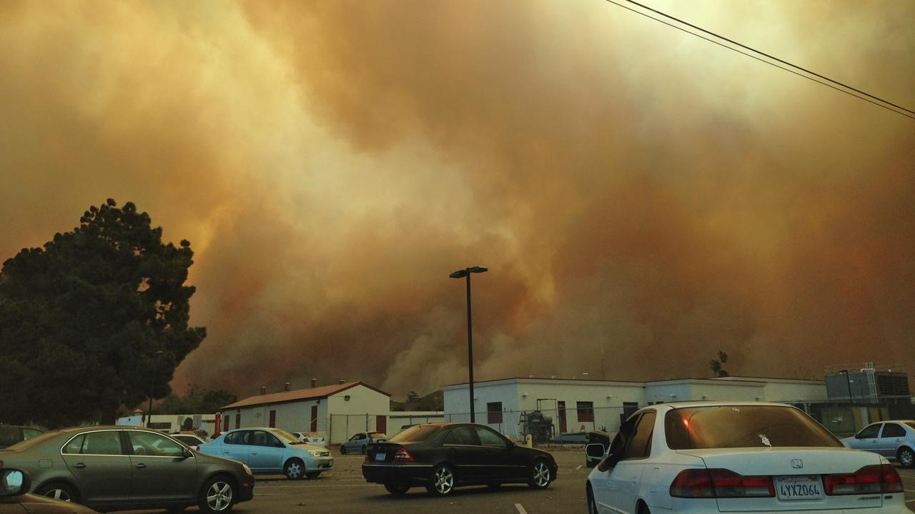 ABC7 viewer Vaughn Valdez sent in this photo from California State University, Channel Islands of a wind-driven wildfire that erupted in the Camarillo area on Thursday, May 2, 2013.Vaughn Valdez