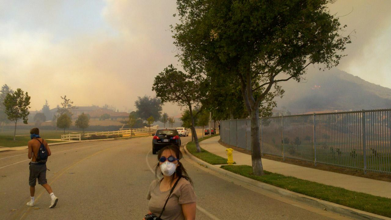 ABC7 viewer Arie Coleman sent in this photo of a wildfire burning in Camarillo on Thursday, May 2, 2013.Arie Coleman