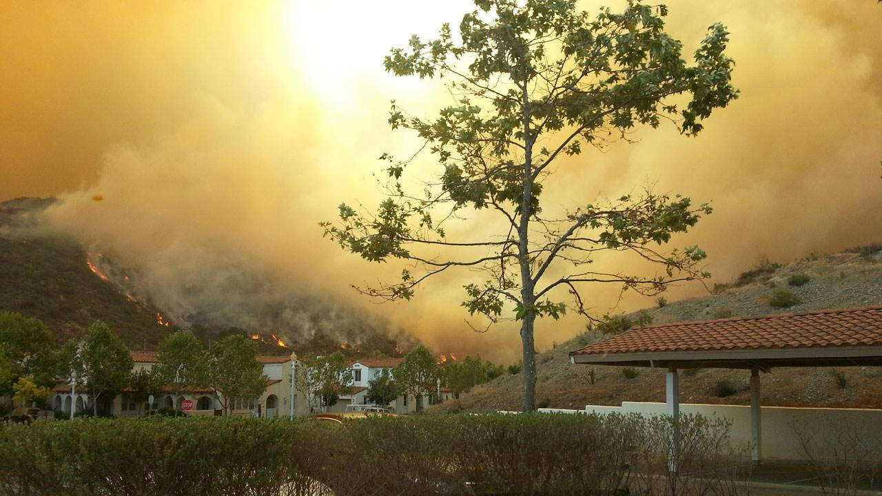ABC7 viewer Barbara Griffin sent in this photo of a wildfire burning in Camarillo on Thursday, May 2, 2013. <span class=meta>(Barbara Griffin)</span>