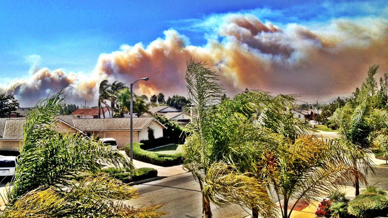 ABC7 viewer Jeanette Rodriguez sent in this photo of a wildfire burning in Camarillo on Thursday, May 2, 2013.Jeanette Rodriguez