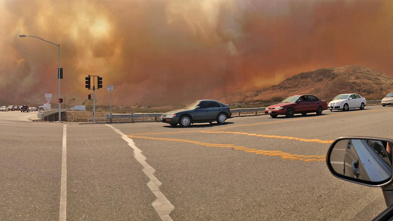 ABC7 viewer Tamika Carroll Griffin sent in this photo of a wildfire burning in Camarillo on Thursday, May 2, 2013. <span class=meta>(Tamika Carroll)</span>