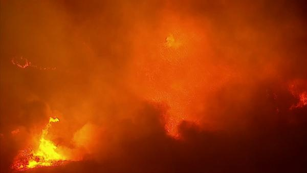 AIR7 HD captured this aerial view of a wildfire burning in Camarillo on Thursday, May 2, 2013.