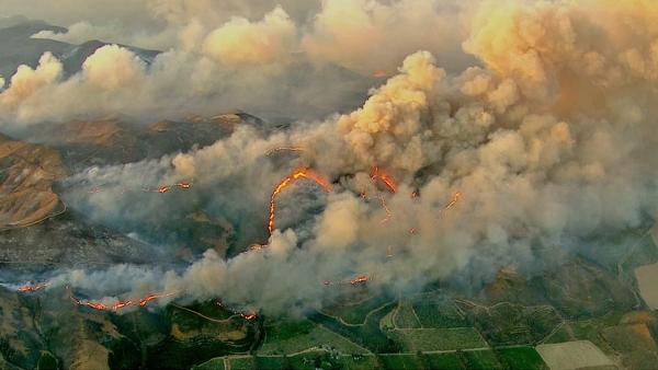 The Springs Fire can be seen from AIR7 HD on Friday