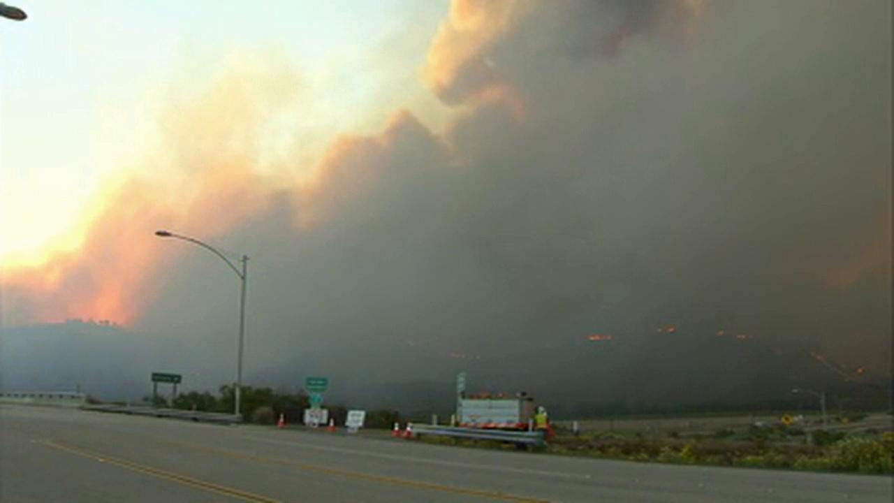 The Springs Fire forced the closure of Pacific Coast Highway, between Las Posas and Yerba Buena roads, on Friday, May 3, 2013.