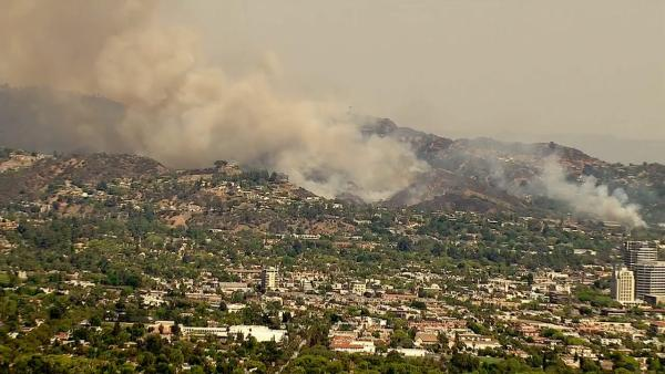 A brush fire erupted in Glendale near the 134 Freeway and Harvey Dr
