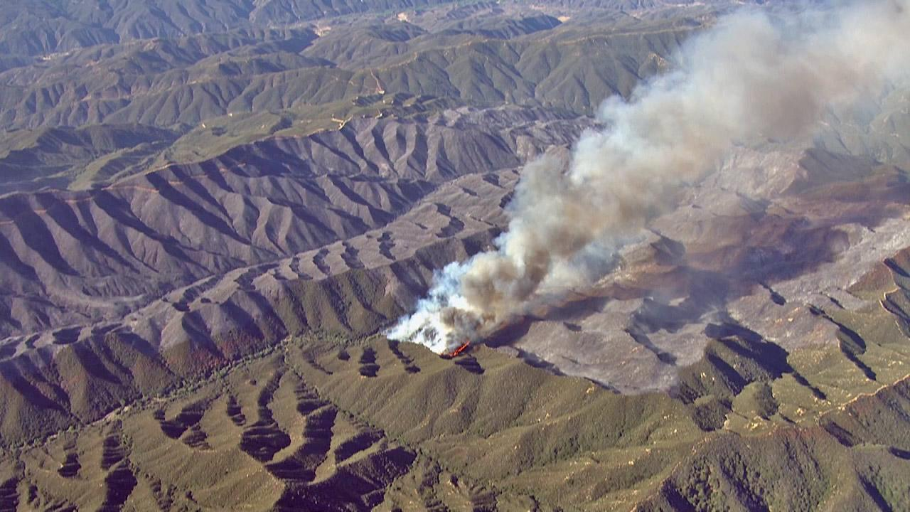 The Powerhouse Fire continues to burn Saturday, June 01, 2013 in the Angeles National Forest.
