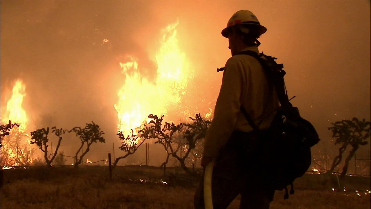 The Powerhouse Fire continues to burn in the Angeles National Forest north of Santa Clarita on Saturday, June 1, 2013.