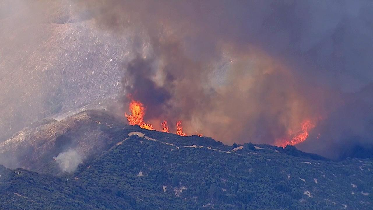 The Powerhouse Fire continues to burn in the Angeles National Forest north of Santa Clarita on Sunday, June 2, 2013.