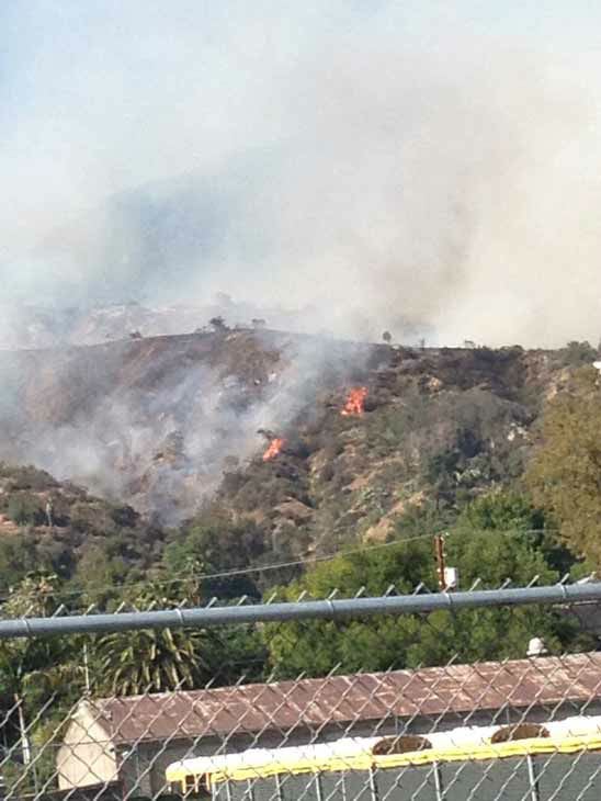 "<div class=""meta ""><span class=""caption-text "">Firefighters responded to a brush fire in the area of Hillcrest Boulevard and Madison Avenue in Monrovia on Saturday, April 20, 2013.  (KABC Photo)</span></div>"