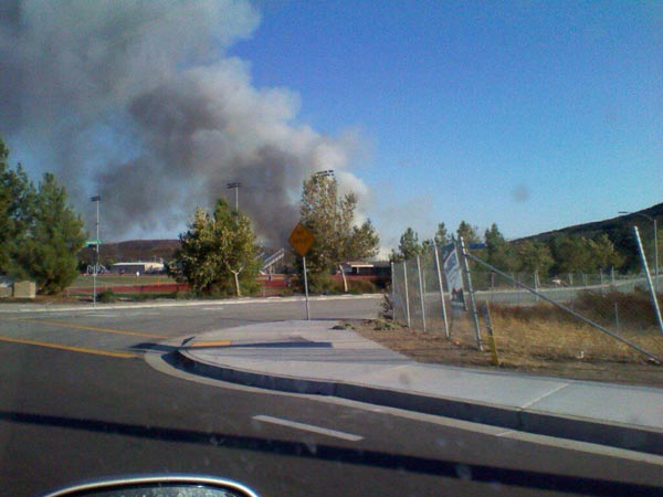 An ABC7 posted this photo of the Murrieta fire on the ABC7 Facebook wall on Sunday, Sept. 23, 2012.