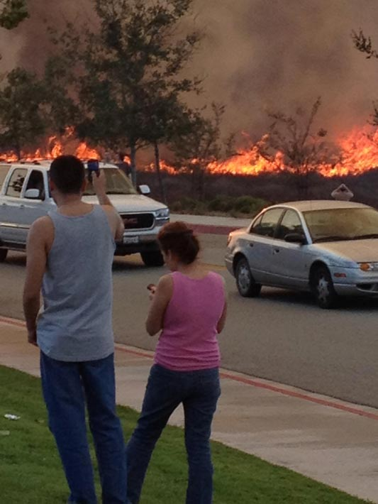 ABC7 viewer Teresa Parry Will posted this photo of the Murrieta fire on the ABC7 Facebook wall on Sunday, Sept. 23, 2012.