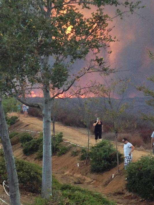 "<div class=""meta ""><span class=""caption-text "">ABC7 viewer Teresa Parry Will posted this photo of the Murrieta fire on the ABC7 Facebook wall on Sunday, Sept. 23, 2012.</span></div>"