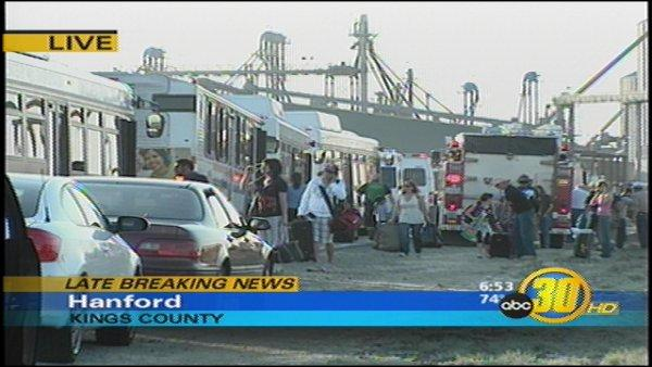 Truck Collides with Amtrak Train in Hanford