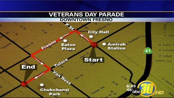 Veterans Day Parade in Downtown Fresno