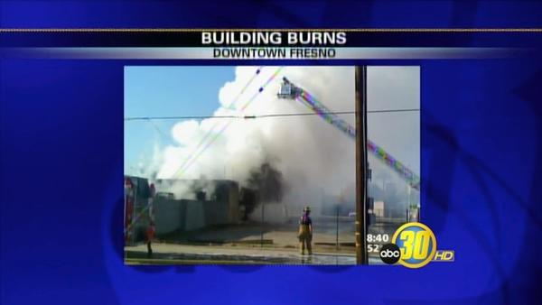 Vacant Building Fire in Fresno's Chinatown