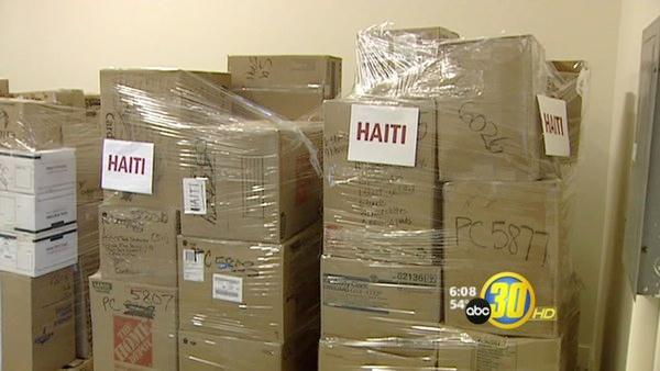 Volunteers in Fresno Ship Medical Supplies to Haiti