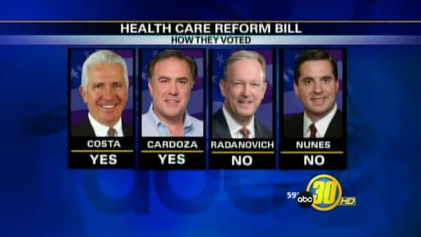 Local Reaction to Health Reform Vote