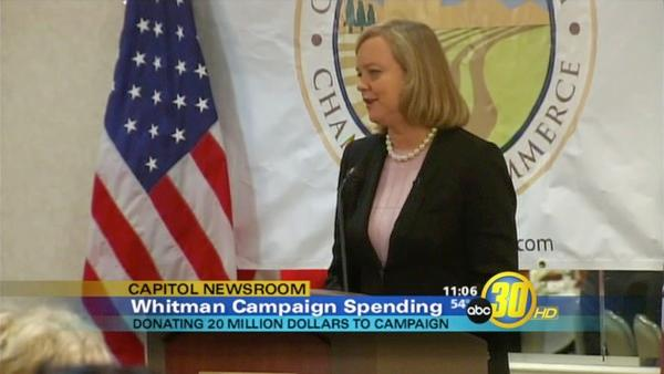 Whitman contributes another $20-million to her campaign