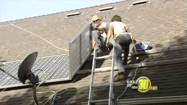 Fresno neighborhood goes green with solar power
