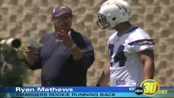 Ryan Mathews gets his first taste of pro football
