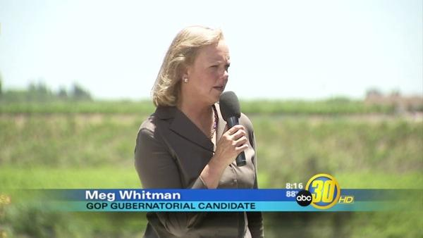 Meg Whitman campaigns in the Central Valley ahead of Tuesday's election