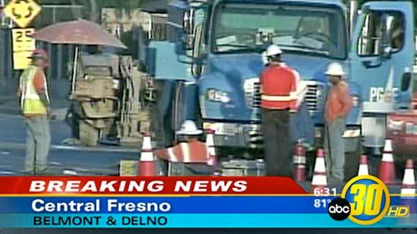 Gas leak capped near Fresno's Roeding Park