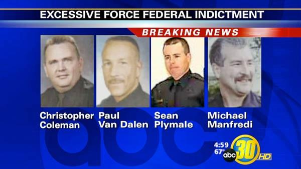 Four Fresno cops indicted on excessive force charges